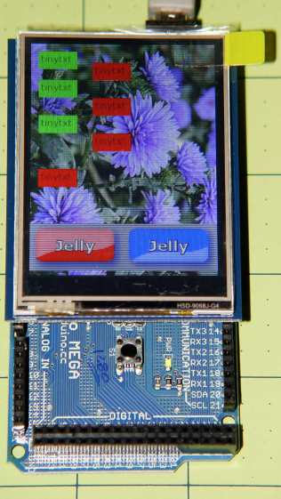 Adafruit TFT display - timing demo