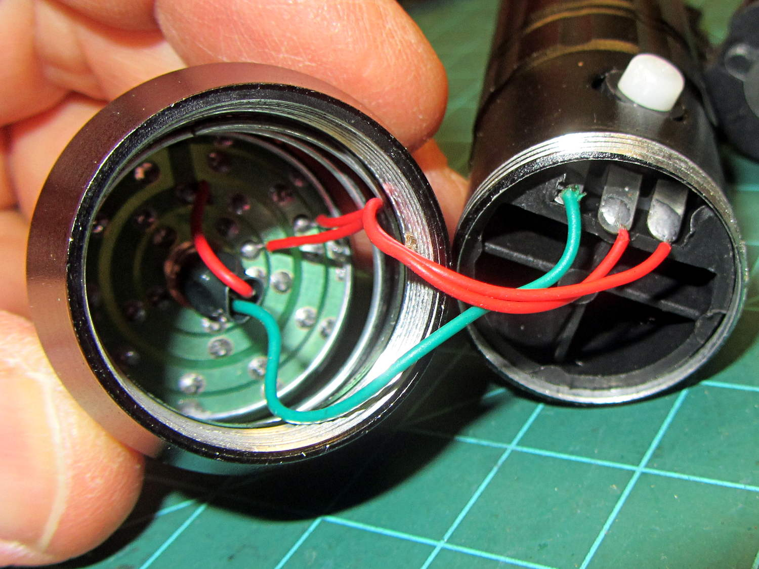 Wiring A Flashlight Simple Diagram Led For You Torch Switch Poor Solder Joints The