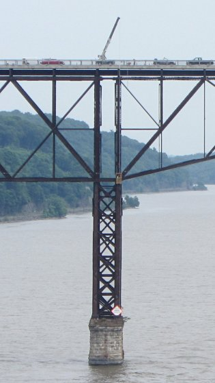Walkway Inspection Crane - from Mid Hudson Bridge