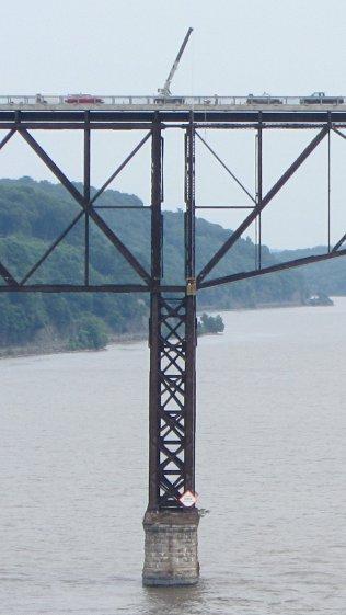 Walkway Inspection Crane - from Mid Hudson Bridge