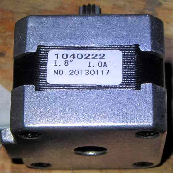 M2 Extruder motor - data sticker