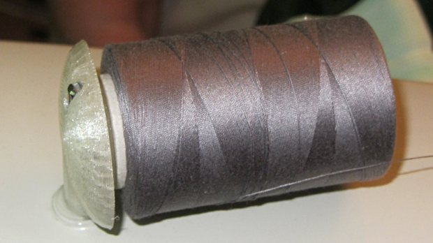 Large spool adapter - on sewing machine