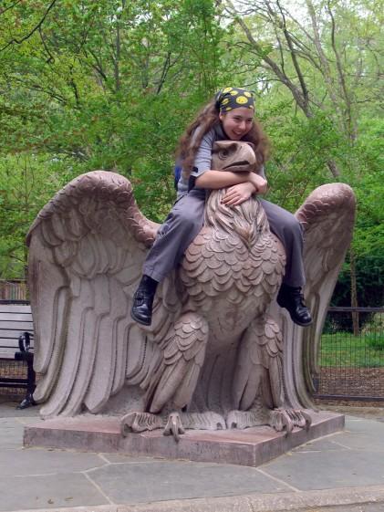 Karen on Penn Station eagle