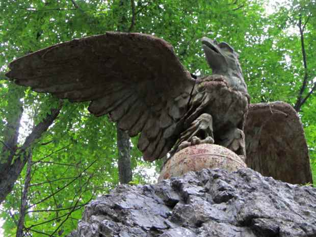 Eagle at St Basils Academy - entrance