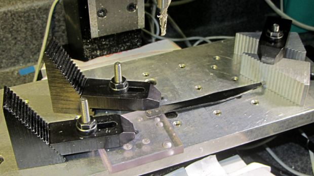 Revlon tweezers - drilling setup