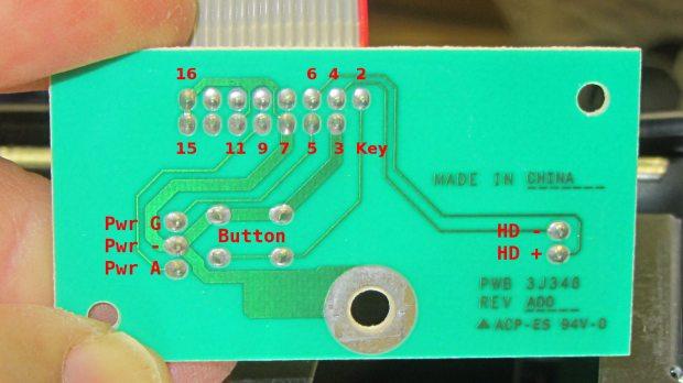 Dell Power Button PCB - copper