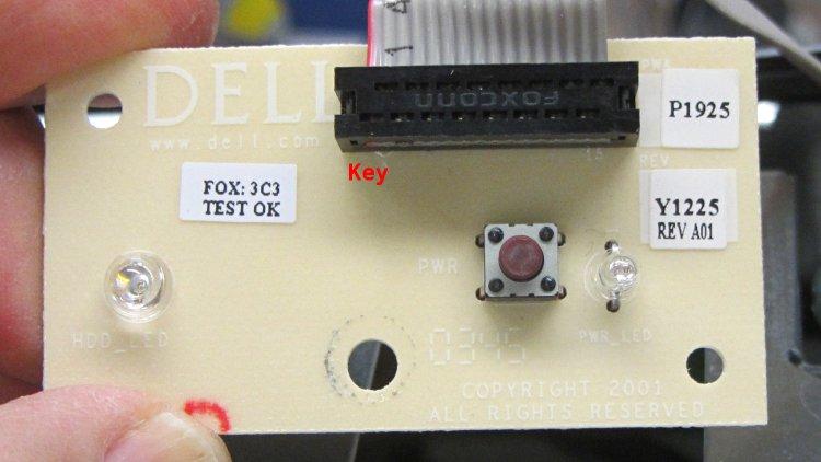 Dell Power Button PCB - component