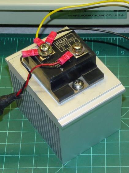 ET227 transistor on heatsink