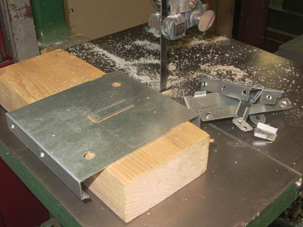 Dell drive bracket - first bandsaw pass