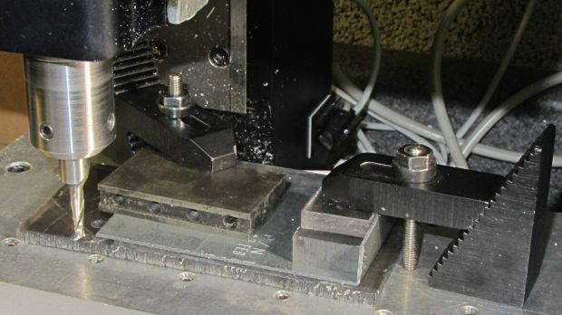 Dell drive bracket - squaring edges