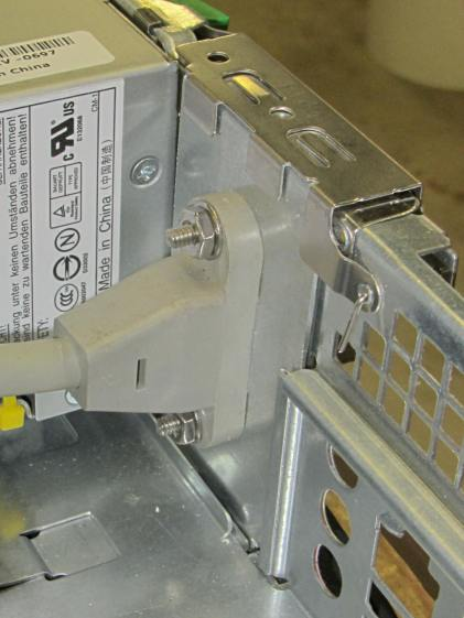 Dell drive bracket - IEC socket - interior