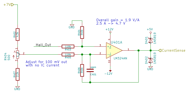 Current Sense Amp - schematic