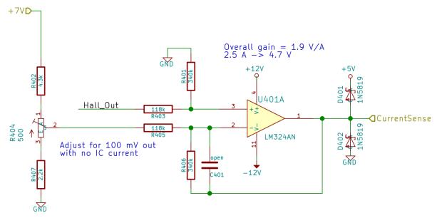 Current Sense Amp - schematic