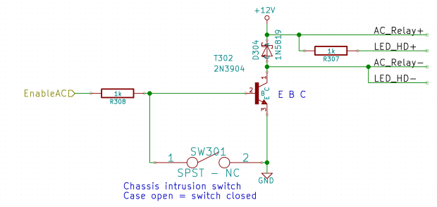 LV Power Interface - AC Relay driver
