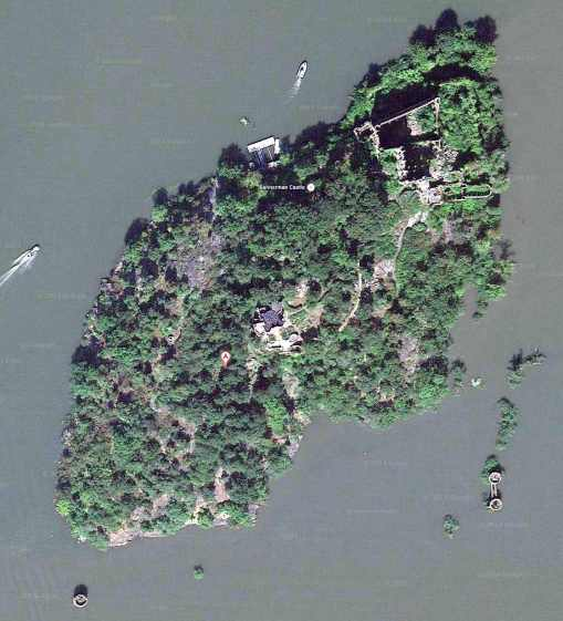 Bannermans Island - Google Satellite View