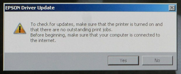 Epson Driver Update - X-Ray Screen - Detail