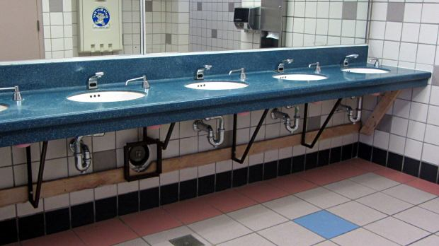 NYS Northway Rest Room - Sink Supports