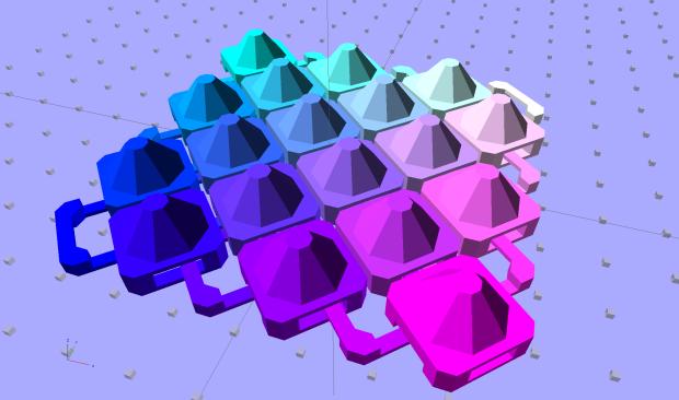 Chain Mail Armor - diamond - 8 sided