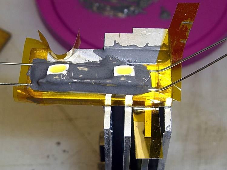 LED mount - epoxy pour - rear