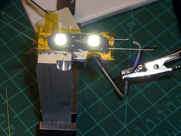 LED mount - heated epoxy cure