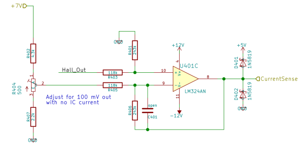 Hall Sensor Differential Amp