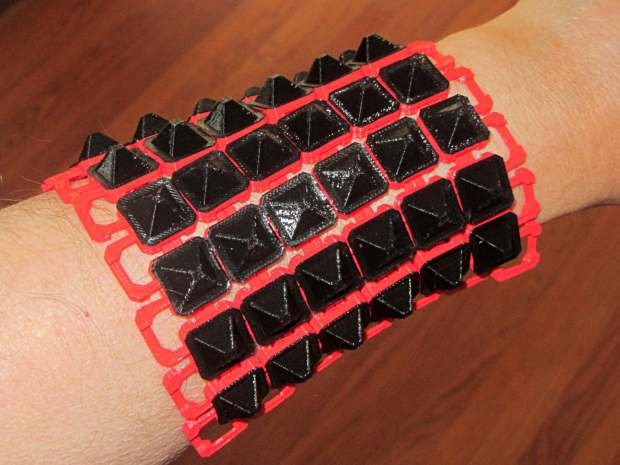 Chain Mail Armor - square on arm
