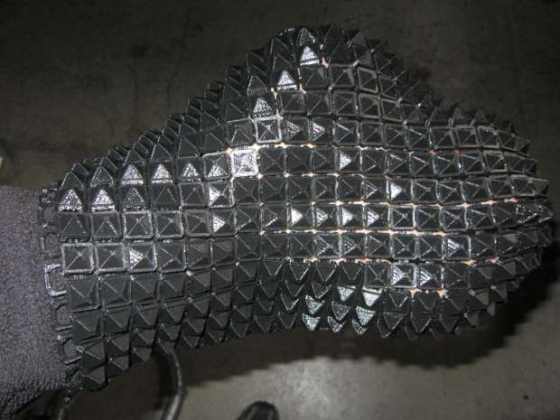 Chain Mail Armor - joined sheet draped on hand