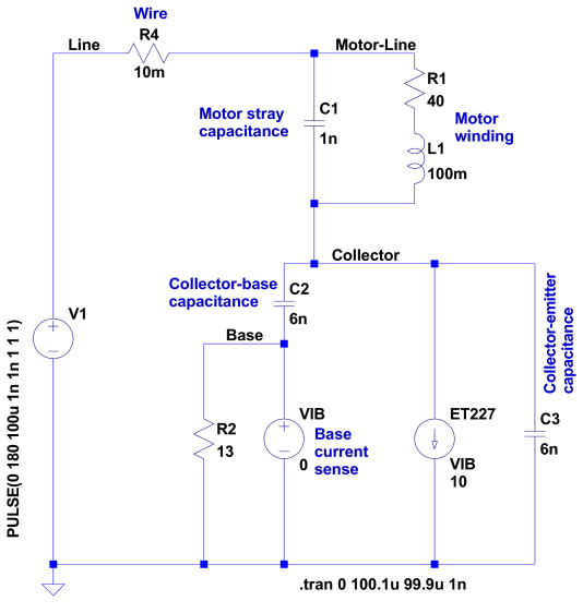 Motor Transient - no NTC - schematic