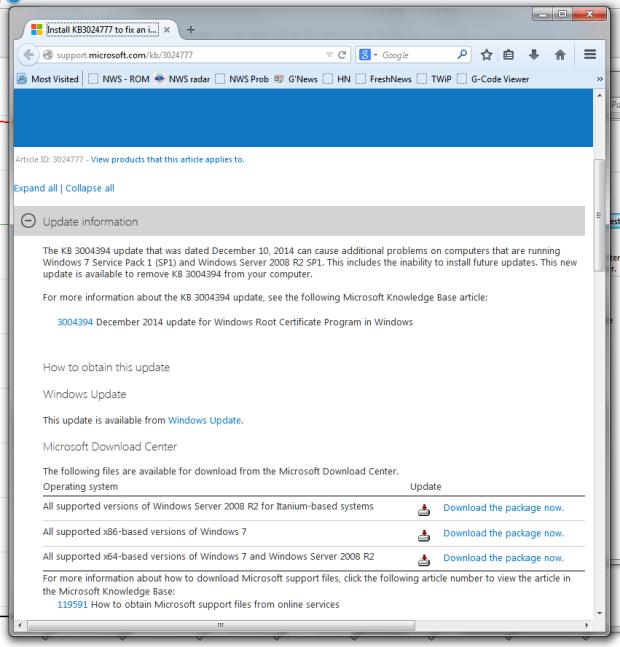 Update to prevent update prevention error
