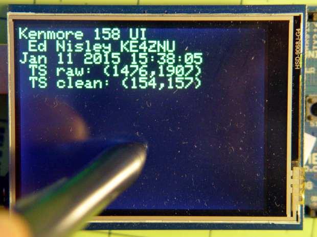Kenmore 158 UI - startup