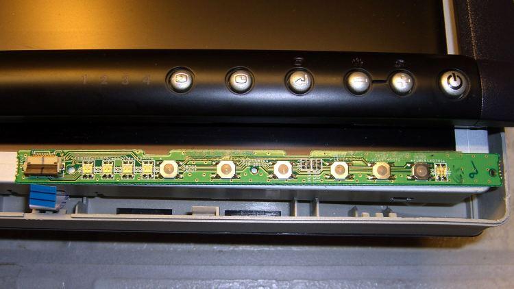 Dell 2005FPW monitor - button PCB cable