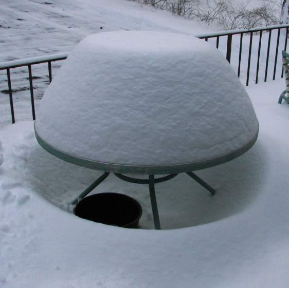 Snow mound - round table