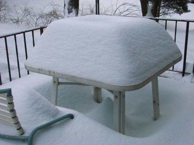 Snow mound - square table