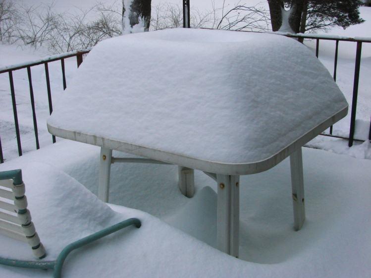 Snow mound - square table