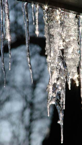 Icicles - sun flare