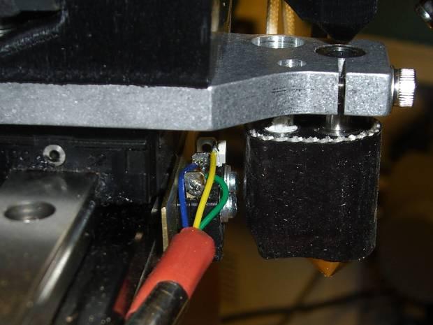 Brass switch bracket - side view
