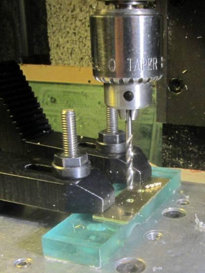 Brass switch bracket - drilling