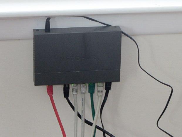 Netgear switch mounted