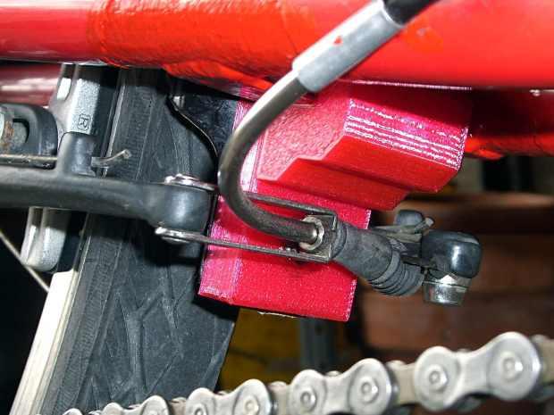 Tour Easy rear fender bracket - installed