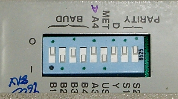 HP 7475A - DIP switch settings
