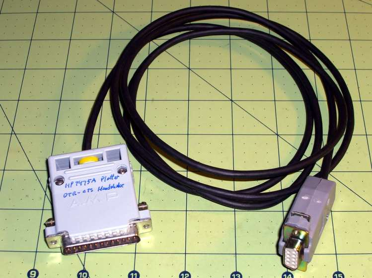 HP 7475A Plotter - serial cable
