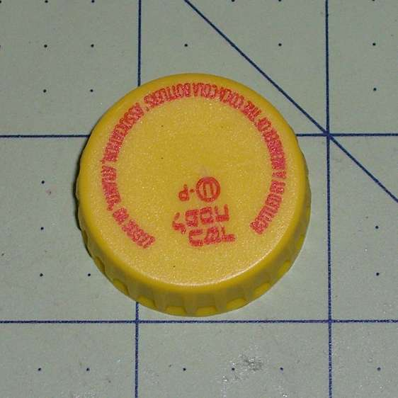 Yellow Cola Cola cap - Kosher for Passover