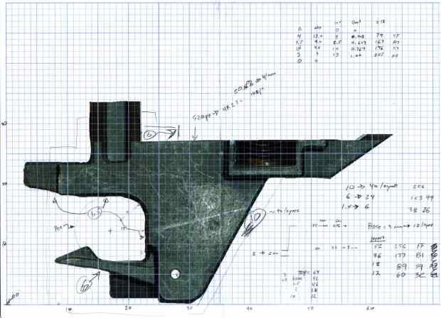 HP 7475A Pen Holder - gridded doodle