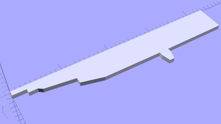 HP7475A - HP Plotter Pen Body - plane polygon