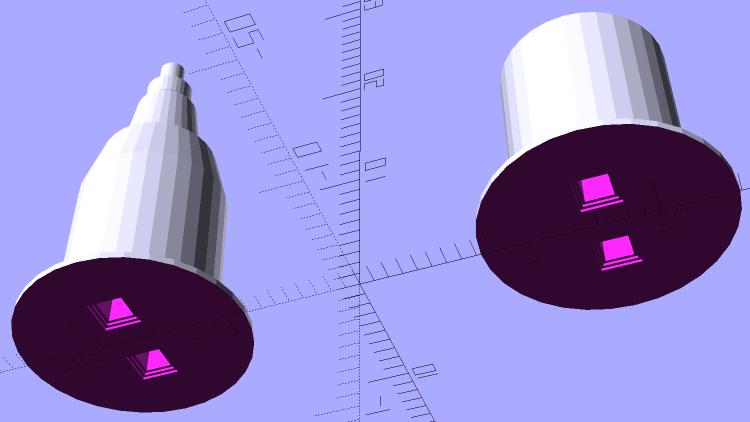 HP7475A - HP Plotter Pen Body - solid model - bottom