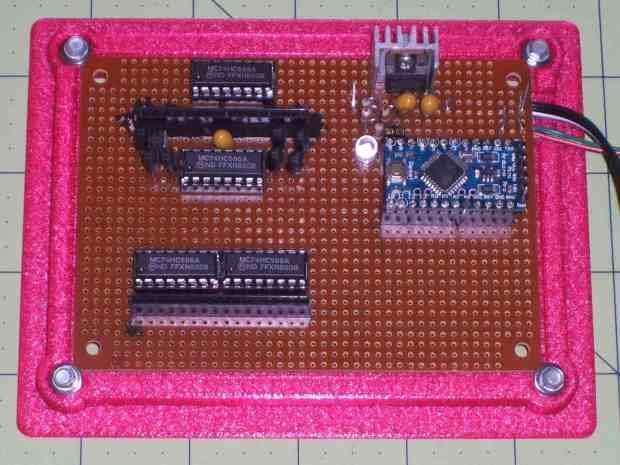 Random LED Dots - circuit layout - top