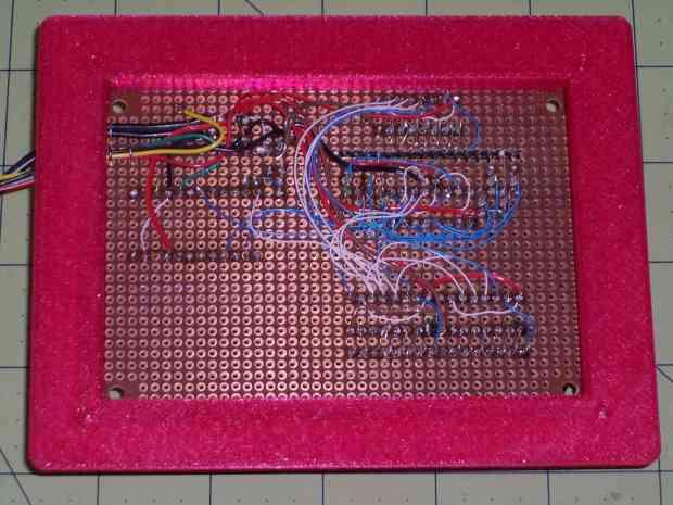 Random LED Dots - circuit layout - bottom