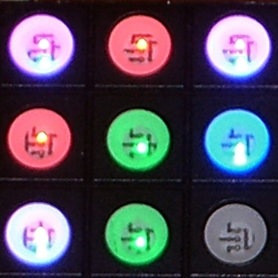 Random LED Dots - LED colors - detail