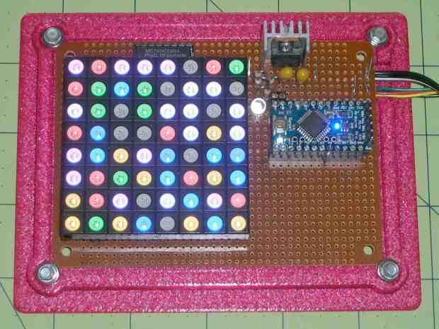 Random LED Dots - overview - no diffuser