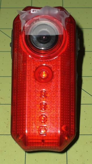 Cycliq Fly6 Camera - blur tape